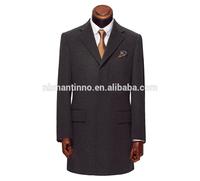 Men Coat Winter Wear Wool Fabric Grey Color
