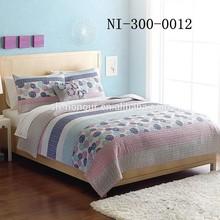 Exquisite Turkey Round Flower Printed Bedspread Quilted Set