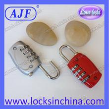 AJF Zinc alloy 4 digital combo locks for luggage bag