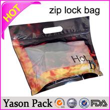 Yason glossy grip seal ziplock herbal incense in uk zip bag plastic pocket flat die cut handle plastic bags