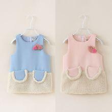 wholesale2014 fall and winter clothes new Korean cute bird Girls sleeveless dress vest skirt child qz-2092