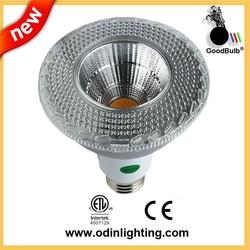 E27 20w COB Par38 led spotlight CE ROHS silver cover