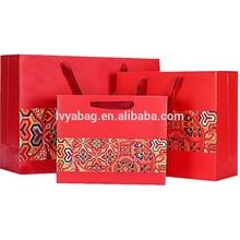 scarlet gift kraft paper bag gift bag shopping paper bag ribbon handle for present