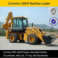 compact 4x4 high quality backhoe loader tires,1 cbm bucket capactiy, Excavator Bucket: 0.3CBM