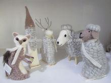santa deer fox sheep christmas desk home indoor decoration 2015
