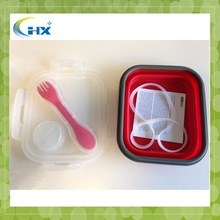 Wholesale collapsible Silicone Lunch Box for kids