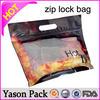Yason plain ziplock plastic bags shinning purple ziplock stand up bottom bags wholesale research chemical spice ziplock bag