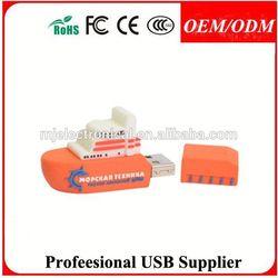 3d promotional usb , pvc usb flash drive custom design pvc usb carton 3d