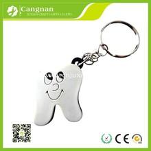 promotion tooth shape keychain,dental keychain