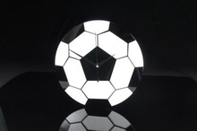 Unique acrylic decorative foot ball Wall clock