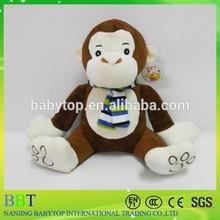 Plush Stuffed 15cm 20cm monkey with Scarf sitting hot sale lovely popular promotion Soft Toy