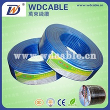 60% braiding coaxial cable rg6 solid copper with utp cat 5e