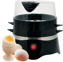 Made in China Guangzhou factory multifunction 400w 220v black color two layer electric egg boiler steamer cooker
