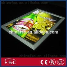 Restaurant menus display light frames