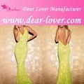 L'arrivée de nouveaux jaune, formelle. belle robe de soirée sirène 20014
