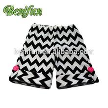 hot children baby clothing kids ruffle chevron shorts baby girls pants China new fashion Factory Price Baby Girls short Pants