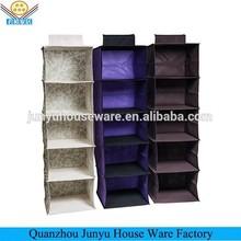Foldable non-woven hanging wall pocket storage organizer