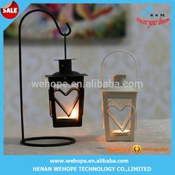 Hot selling Heartwarming mini metal lantern candle holder wedding favors