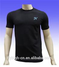 simple design black color mens spandex t shirts
