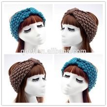 Hot!!!Efan supply fashion crochet women headband, crochet baby knot headband,crochet baby headband