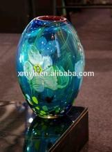 Estilo caliente de moda cristal de murano cementerio funeral florero