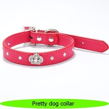 Pretty rhinestone dog collar dog pet products