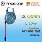 I.D. 6.5mm L 10m DTS-6810A small size air hose reel cnc fly reel