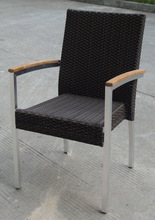 aluminum outdoor rattan chair/cafe rattan chair