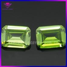 Rectangle 10*12mm Apple-Green gems CZ Synthetic diamond