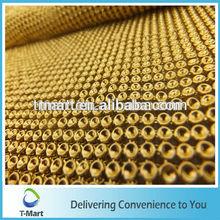 wholesale garment accessories GOLD aluminum rhinestone metal mesh