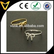 Silver, Gold Adjustable Ring NEW Knot Ribbon Ring