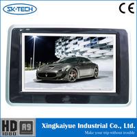 HD LCD Car Headrest Monitor DVD Player Black Wireless Headphone