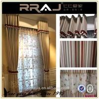 2015 Modern Stripe Resturant Curtains