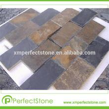 pool decoration stone and tile white slate natural finish