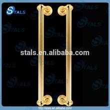retro pattern gold plate door handles
