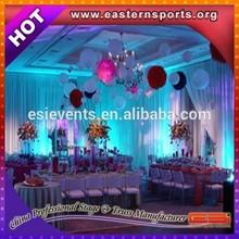 ESI white chiffon event drapery pipe & drape elegant decor
