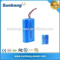 18650 high power cell 2s1p 7.4v 2200mah li ion battery pack