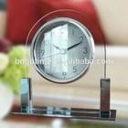 Modern decorative melody table glass alarm clock