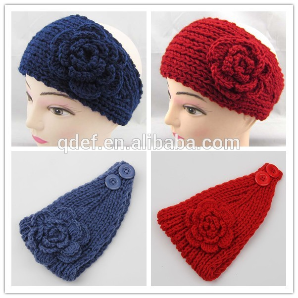 Knit Pattern Headband With Button Closure : headband knitted headband with button closure pattern ...