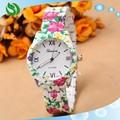 genebra 2015 rosa açoinoxidável relógios relógio das mulheres