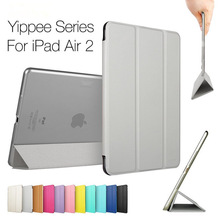 Yippee silver grey cases for ipad air 2/ipad 6, also for ipad series customized pu leather case cover(also various colors)