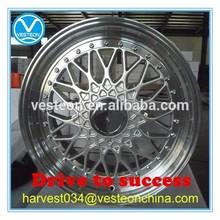 Big lip silver face alloy wheel for car