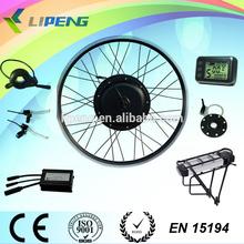 EN15194 CE certification! 1000W 48V E-bike kit /Fat tire bike motor kit with battery and LCD display
