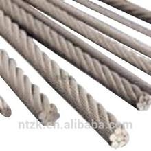 galvanized round strand carbon steel wire rope