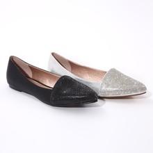 Shining Diamond simple women flat shoes