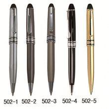Latest popular metal multi-function pvc promotional ball point pen