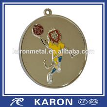 novelty personalized cartoon medallion basketball