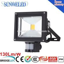 Motion sensor outdoor wall LED flood lighting PIR 30W 10w 20w 30w 10w 20w 30w 50w 70w 100w with IES File