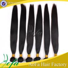 Aofa Unprocessed Wholesale Virgin Peruvian/Indian/Malaysian/Brazilian Hair, Brazilian Straight Hair