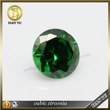 Bulk wholesale gemstones cubic zirconia round dark green gemstone